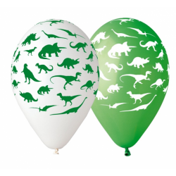 Balony Premium Dinozaury 12cali 30cm 5szt