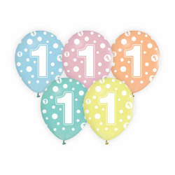Balony pastelowe na Roczek 12cali 30cm 5szt