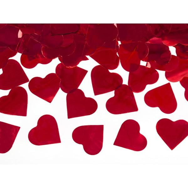 Tuba strzelająca serca czerwone 40cm