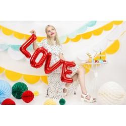 Balon foliowy LOVE czerwony 140x35cm