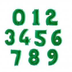 Balony Cyfry  0-9 Zielony 102cm
