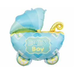 Balon foliowy Wózek niebieski 60x60cm