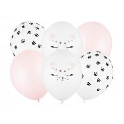 Bukiet z balonów Kotek 12cali 30cm 6szt
