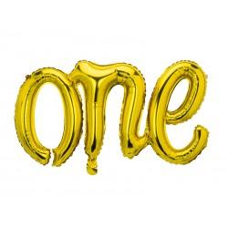 Balon foliowy One złoty 66x37cm
