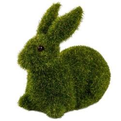 Zając flokowany zielony 11cm
