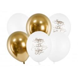 Bukiet balonów Happy Birthday To You 12cali 30cm 6szt