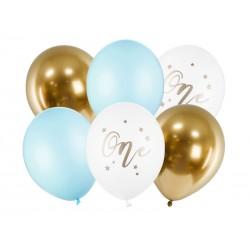 Bukiet z balonów na Roczek 12cali 30cm 6szt