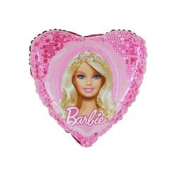 Balon foliowy Barbie serce 18cali 45cm
