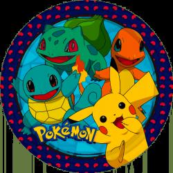 Talerzyki papierowe Pokemon 23cm 8szt