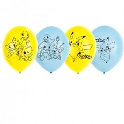 Balony lateksowe Pokemon 11cali 28cm 6szt