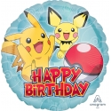 Balon foliowy Pokemon Happy birthday 17cali 43cm