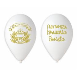 Balony Premium Pierwsza Komunia Święta 13cali  33cm 5szt