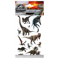 Tatuaże zmywalne Dinozaury 12szt