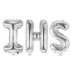 Balon foliowy napis IHS srebrny 35cm