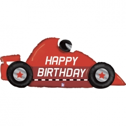 Balon foliowy Happy Birthday Wyścigówka 56cali 142cm
