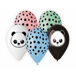 Balony Premium Panda 13cali 33cm 5szt