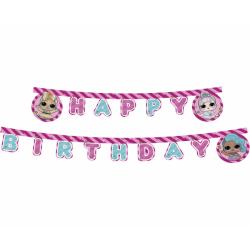 Baner Happy Birthday LOL Glitterati 210cm