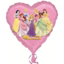Balon foliowy Księżniczki róźowy 18cali 46cm