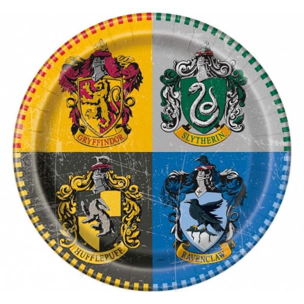 Talerzyki papierowe Harry Potter 23cm 8szt