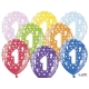 Balony metaliczne na Roczek mix kolorów 12cali 30cm 5szt Strong