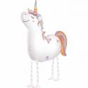Chodzący balon foliowy Jednorożec 90cm
