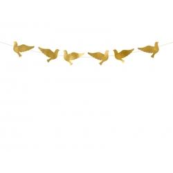 Girlanda Gołębie złota 86cm