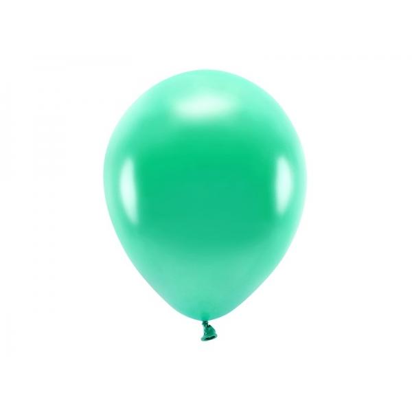 Balony Eco metaliczne zielone 12cali 30cm 10szt