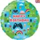 Balon foliowy Game Happy Birthday 18cali 46cm