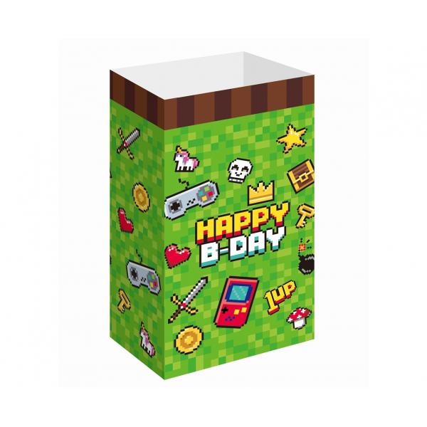 Pudełka na popcorn/słodycze Game On 25x13cm 6szt