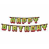Girlanda papierowa Game On Happy Birthday 160cm