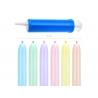 Balony rurki do modelowania pastelowe 130cm z pompką 30szt