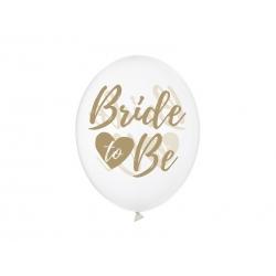 Balony transparentne Bride to be 12cali 30cm 6szt
