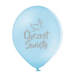 Balony lateksowe Chrzest Święty błękitne 12cali 30cm 5szt