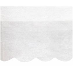 Obrus papierowy biały, półokrągłe wykończenie 137x274cm