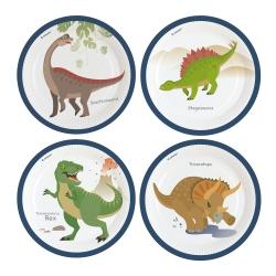 Talerzyki papierowe Dinozaury 23cm 8szt