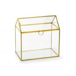 Szklane pudełko na koperty 13x21x21cm