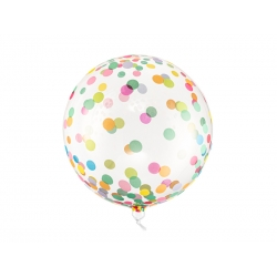 Balon Kula w kropki transparentny 40cm