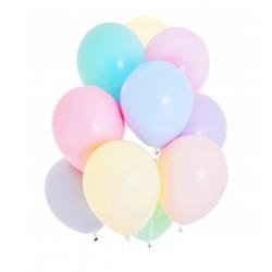 Balony pastelowe mix kolorów 11cali 27cm 10szt Strong