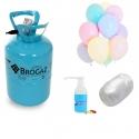 Butla z helem na 50 balonów + żel uszczelniający 500ml