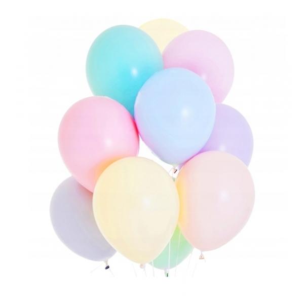 Balony pastelowe mix kolorów 9cali 23cm 50szt Strong