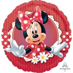 Balon foliowy Myszka Minnie czerwony