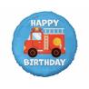 Balon foliowy Happy Birthday Wóz Strażacki 18cali