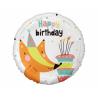 Balon foliowy Happy Birthday Lisek 18cali 36cm