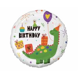 Balon foliowy Happy Birthday Dinozaur 18cali 36cm