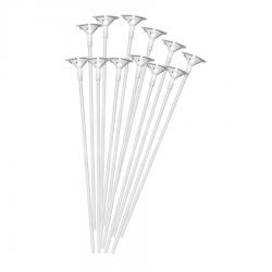 Patyczki do balonów z zatyczką białe 10szt