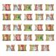 Kalendarz adwentowy 24 sztuki poduszki