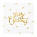 Serwetki papierowe Merry Christmas białe 33x33cm 10szt