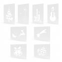 Świąteczne szablony do sztucznego białe 8szt