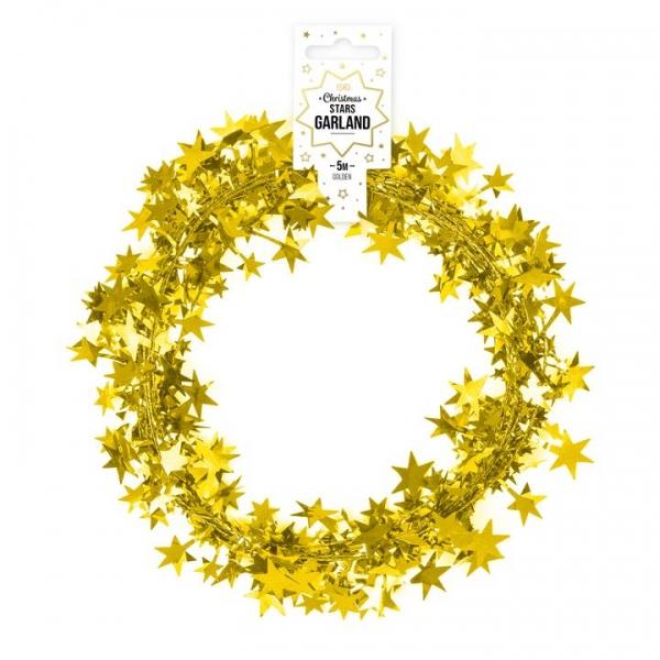 Łańcuch z gwiazdkami złoty 5m