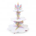 Patera papierowa na słodycze Jednorożec biała